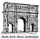 archway - a passageway under a curved masonry construction