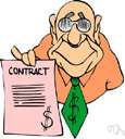 acceptance - (contract law) words signifying consent to the terms of an offer (thereby creating a contract)