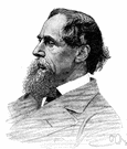 dickens - English writer whose novels depicted and criticized social injustice (1812-1870)