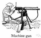 machine gunner - a serviceman in the artillery