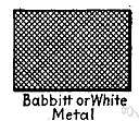 Babbitting - lining a surface or bearing with Babbitt metal