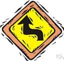 curve - turn sharply