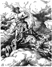 Thor - (Norse mythology) god of thunder and rain and farming