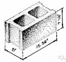 cinder block - a light concrete building block made with cinder aggregate