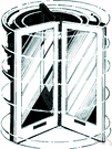 revolving door - an organization or institution with a high rate of turnover of personnel or membership