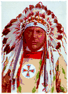 Blackfoot - a member of a warlike group of Algonquians living in the northwestern plains