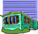 house trailer - a wheeled vehicle that can be pulled by a car or truck and is equipped for occupancy