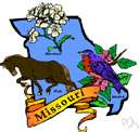 mo - a midwestern state in central United States