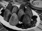 croquette - minced cooked meats (or vegetables) in thick white sauce