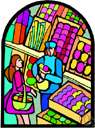 marketing - shopping at a market