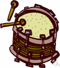 Drum - a musical percussion instrument