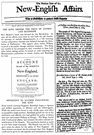 bill - an advertisement (usually printed on a page or in a leaflet) intended for wide distribution