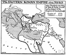 Byzantium - a continuation of the Roman Empire in the Middle East after its division in 395