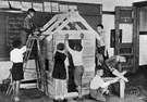 playhouse - plaything consisting of a small model of a house that children can play inside of