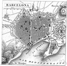 Barcelona - a city in northeastern Spain on the Mediterranean