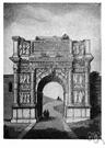 triumphal arch - a monumental archway