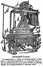 Jacquard loom - a loom with an attachment for forming openings for the passage of the shuttle between the warp threads