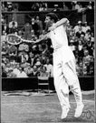 budge - United States tennis player who in 1938 was the first to win the Australian and French and English and United States singles championship in the same year (1915-2000)
