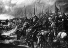 Agincourt - a battle in northern France in which English longbowmen under Henry V decisively defeated a much larger French army in 1415
