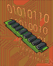 memory chip - a RAM microchip that can be plugged into a computer to provide additional memory