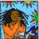 reggae - popular music originating in the West Indies