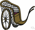handcart - wheeled vehicle that can be pushed by a person