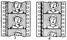moving-picture show - a form of entertainment that enacts a story by sound and a sequence of images giving the illusion of continuous movement
