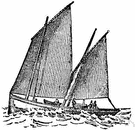 lug - a sail with four corners that is hoisted from a yard that is oblique to the mast