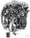 minstrel show - a troupe of performers in blackface typically giving a comic program of negro songs and jokes