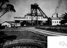 colliery - a workplace consisting of a coal mine plus all the buildings and equipment connected with it