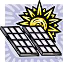 solar energy - energy from the sun that is converted into thermal or electrical energy