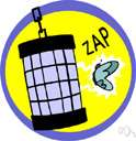 zapper - an electrical device that can injure or kill by means of electric currents