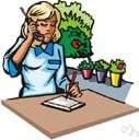 saleswoman - a woman salesperson
