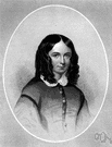 Browning - English poet best remembered for love sonnets written to her husband Robert Browning (1806-1861)