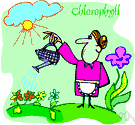 chlorophyl - any of a group of green pigments found in photosynthetic organisms