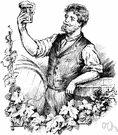 beer maker - someone who brews beer or ale from malt and hops and water