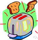 toaster - a kitchen appliance (usually electric) for toasting bread