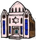 synagogue - (Judaism) the place of worship for a Jewish congregation