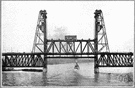 Lift bridge - a bridge that can be raised to block passage or to allow boats or ships to pass beneath it