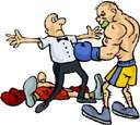 knockout - a blow that renders the opponent unconscious