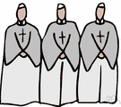 clergy - in Christianity, clergymen collectively (as distinguished from the laity)