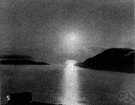 midnight sun - the sun visible at midnight (inside the Arctic or Antarctic Circles)