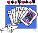 hearts - a form of whist in which players avoid winning tricks containing hearts or the queen of spades