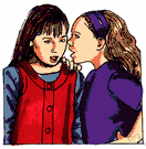 gossiping - a conversation that spreads personal information about other people