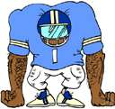 linebacker - a defensive football player who takes a position close behind the linemen