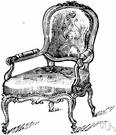 fauteuil - an upholstered armchair