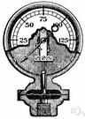 pressure gauge - gauge for measuring and indicating fluid pressure