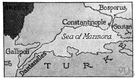 Hellespont - the strait between the Aegean and the Sea of Marmara that separates European Turkey from Asian Turkey