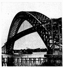 steel arch bridge - a steel bridge constructed in the form of an arch
