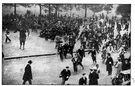 hunger march - a march of protest or demonstration by the unemployed